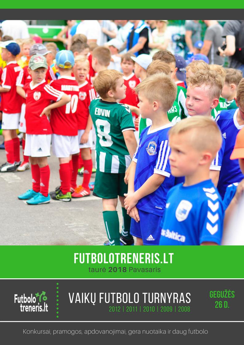 vaikų futbolo turnyras